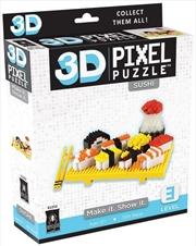 3D Pixel Puzzle Mini - Sushi | Merchandise