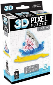 3D Pixel Puzzle Mini - Shark | Merchandise