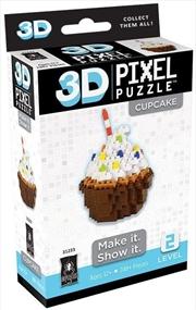 3D Pixel Puzzle Mini - Cupcake | Merchandise