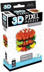 3D Pixel Puzzle Mini - Cheeseburger | Merchandise