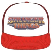 Stranger Things - Logo Red & White Trucker Cap