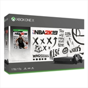 Xbox One Console X with NBA 2K19