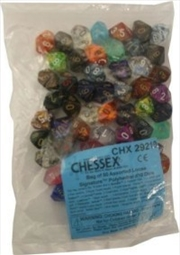 BULK D10 Dice Assorted Loose Signature Polyhedral (50 Dice in Bag) | Merchandise