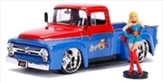DC Bombshells - Supergirl 1956 Ford F100 1:24 Scale Hollywood Rides Diecast Vehiclest