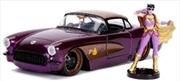 DC Bombshells - Batgirl 1957 Chevy Corvette 1:24 Scale Hollywood Rides Diecast Vehicle | Merchandise