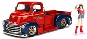 DC Bombshells - Wonder Woman Chevy Pickup 1:24 Scale Hollywood Rides Diecast Vehicle | Merchandise