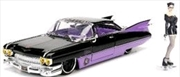 DC Bombshells - Catwoman 1959 Cadillac 1:24 Scale Hollywood Rides Diecast Vehicle