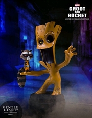 Guardians of the Galaxy - Groot & Rocket Animated Statue | Merchandise