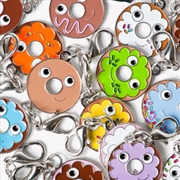 Donut Enamel Zipper Pulls | Miscellaneous