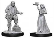 Pathfinder - Deep Cuts Unpainted Miniatures: Merchants (Serving Girl/Merchant) | Games