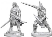 Pathfinder - Deep Cuts Unpainted Miniatures: Human Male Fighter | Games