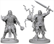 Pathfinder - Deep Cuts Unpainted Miniatures: Human Male Cleric | Games