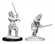 Pathfinder - Deep Cuts Unpainted Miniatures: Human Male Barbarian | Games