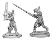 Pathfinder - Deep Cuts Unpainted Miniatures: Human Female Barbarian | Games
