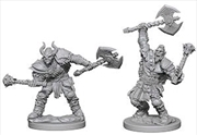 Pathfinder - Deep Cuts Unpainted Miniatures: Half-Orc Male Barbarian | Games