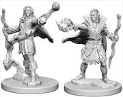 Pathfinder - Deep Cuts Unpainted Miniatures: Elf Male Sorcerer   Games