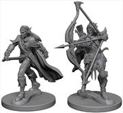 Pathfinder - Deep Cuts Unpainted Miniatures: Elf Male Fighter #1   Games