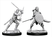 Pathfinder - Deep Cuts Unpainted Miniatures: Elf Female Fighter #2 | Games