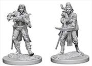 Pathfinder - Deep Cuts Unpainted Miniatures: Elf Female Bard   Games