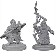 Pathfinder - Deep Cuts Unpainted Miniatures: Dwarf Male Sorcerer   Games