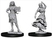 Pathfinder - Deep Cuts Unpainted Miniatures: Bartender/Dancing Girl   Games