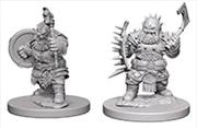 Pathfinder - Deep Cuts Unpainted Miniatures: Dwarf Male Barbarian   Games