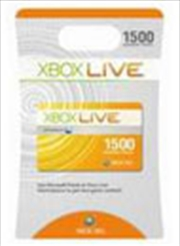 Xbox Live 1500 Microsoft Points Card | Games