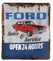 Ford Polar Fleece Throw Rug