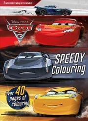 Disney Pixar Cars 3 Race-Ready Colouring 2 Collectible Trading Cards Included   Paperback Book