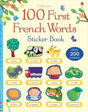 100 First Words in French Sticker Book | Paperback Book