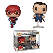 Justice League Movie - The Flash and Superman Race NYCC 2018 Exclusive Pop! Vinyl 2-pack [RS]