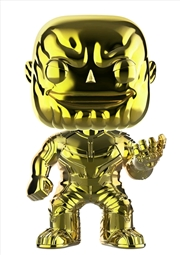 Avengers 3: Infinity War - Thanos Yellow Chrome US Exclusive Pop! Vinyl [RS]