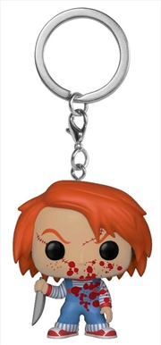 Child's Play - Chucky Blood Splattered US Exclusive Pocket Pop! Keychain [RS]   Pop Vinyl