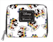 Mickey Mouse - Mickey Rainbow Print Zip-Around Wallet