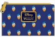 Mickey Mouse - Donald Head Print Flap Wallet