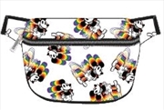 Mickey Rainbow Print Bum Bag