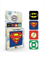 DC Comics Logos Set Of 4 Coasters