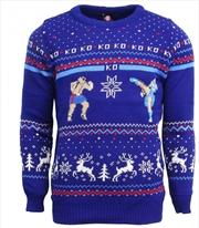 Official Street Fighter Sagat vs Chun Li Christmas Jumper Ugly Sweater M