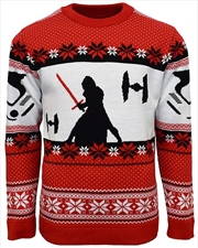 Official Star Wars Kylo Ren Christmas Jumper Ugly Sweater L