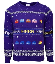 Official Pac-Man Christmas Jumper Ugly Sweater S