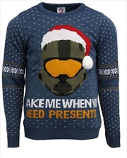 Official Halo Christmas Jumper Ugly Sweater L