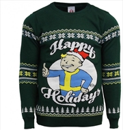 Fallout Official Happy Holidays Ugly Christmas Sweater S