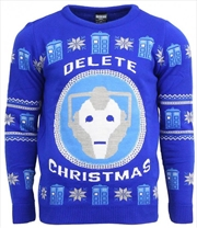 Official Doctor Who BBC Christmas Jumper Ugly Sweater L