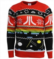 Atari Official Ugly Christmas Sweater S