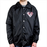Superman Logo Coach Jacket S | Merchandise