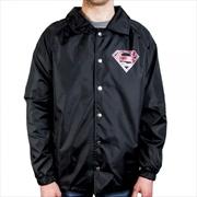 Superman Logo Coach Jacket M