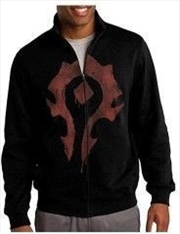 World of Warcraft Horde Spray Zip-up Hoodie S   Merchandise