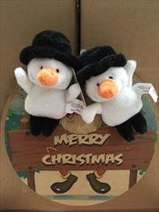Snow Man Christmas Magnet
