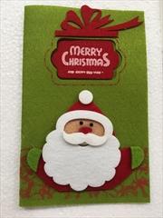 Santa Felt Christmas Card
