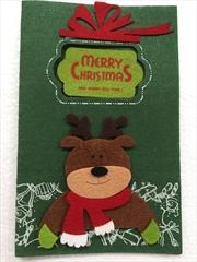 Reindeer Felt Christmas Card